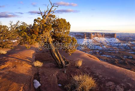usa utah overlook vista with cliffs