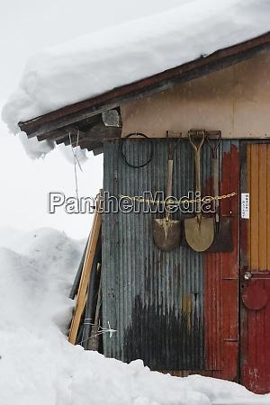 gassho zukuri house covered with snow