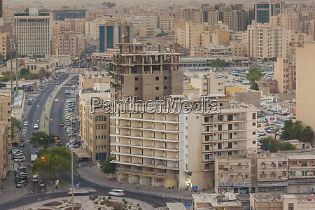 qatar doha elevated city view dawn