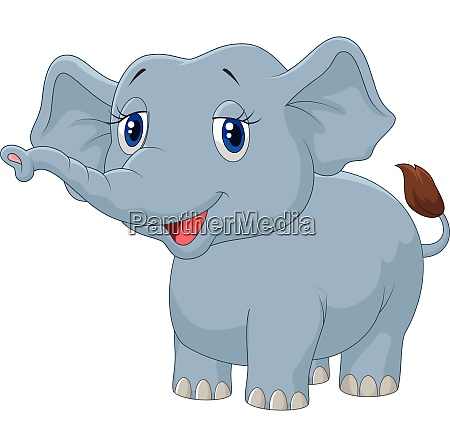 junge elefanten cartoon
