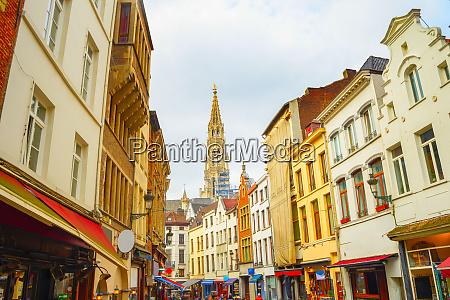 shopping, street, , church, , brussels, , belgium - 27724307