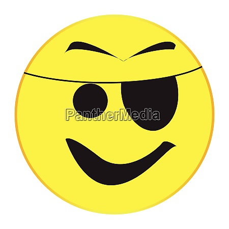 patch eye pirate smile face button