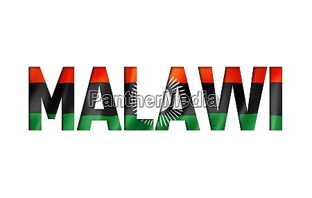malawi flag textschriftart