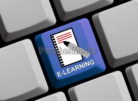 symbol auf computertastatur e learning