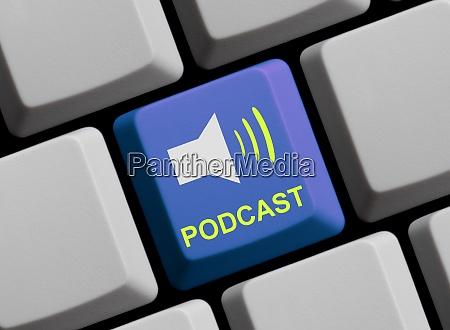 symbol auf der computertastatur podcast