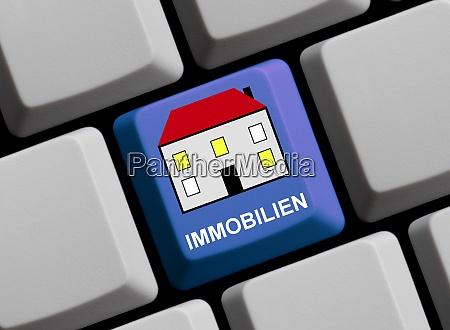 symbol auf computer tastatur real estate