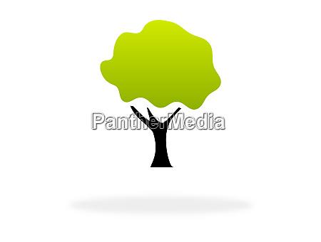 gruene und schwarze baum symbol