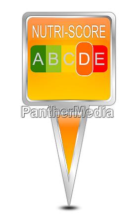 orange kartenzeiger nutri score label 5