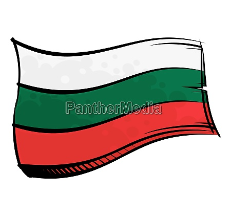 bemalte bulgarien flagge im wind winkend