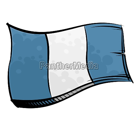 painted guatemala flag waving in wind