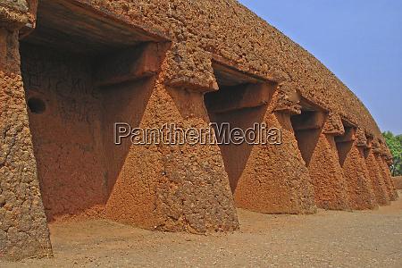 nigeria jos traditionelles lehmziegelhaus hausa architektur