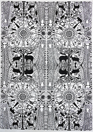 batik stoff mantenga kulturdorf swasiland