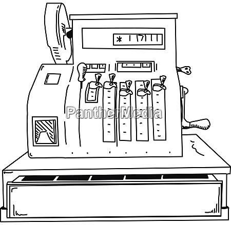 vektor registrierkasse