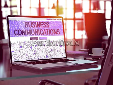 business communications concept closeup auf