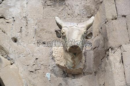 georgia mtskheta a bull head carved