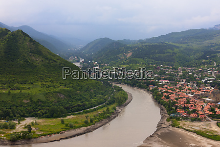 mtskheta on the confluence of the