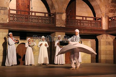 egypt cairo egyptian tanoura sufi dancers