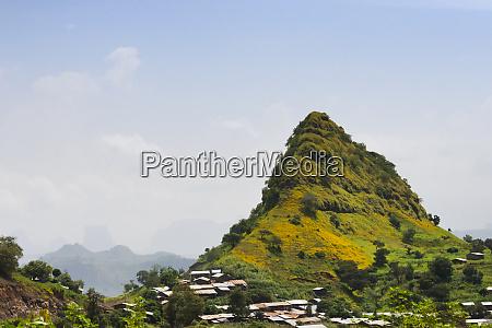 village in simien mountain ethiopia