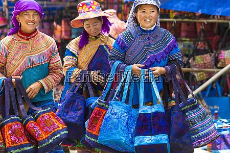blume hmong tasche verkaeufer am markttag