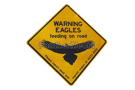 eagle warning sign australien