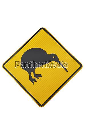 kiwi warnschild neuseeland