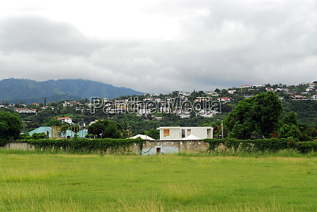 jamaica kingston view of mountain range