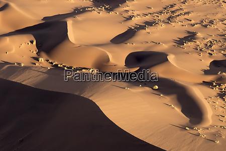 afrika, namibia, namib-naukluft, park., abstrakte, luft, von, sanddünen. - 27745400