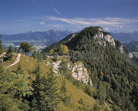deutschland bayern falkenstein wanderer geniessen die