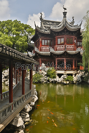 shanghai china yu garden and oriental