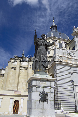spain madrid neo gothic cathedral almudena