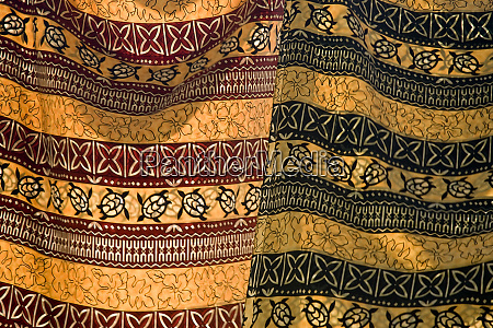 fiji yasawa islands colorful fabrics with