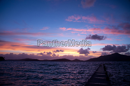 sunset from turtle island yasawa islands