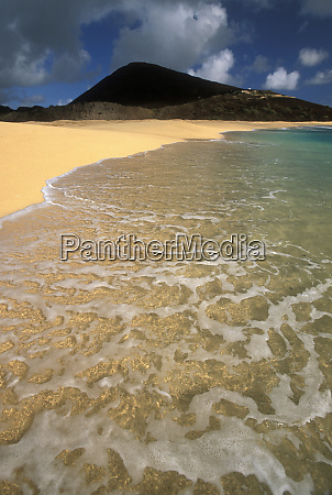 ascension island long beach and waves