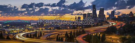 usa washington state seattle sweeping sunset