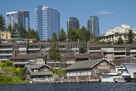 usa washington state bellevue downtown skyline