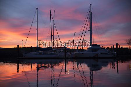 bellingham washington state puget sound sunset