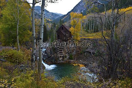 usa colorado scenic historic crystal mill