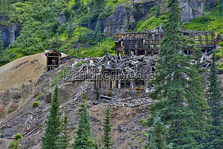 usa colorado remnants of the old