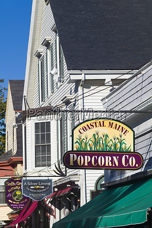 usa maine boothbay harbor downtown