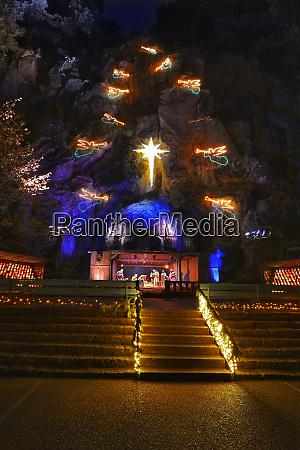 usa oregon portland nativity scene and