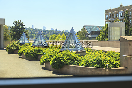 view from window near entrance of