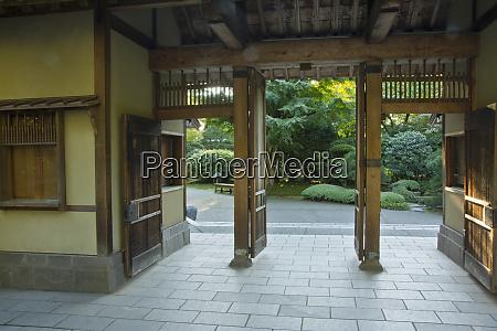 entrance view portland japanese garden portland