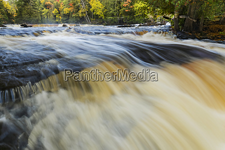 cascade on lower section of tahquamenon