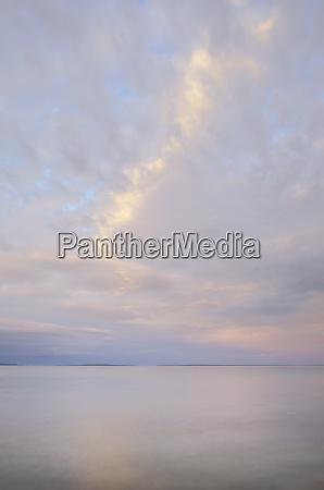 evening sky over lake huron mackinaw