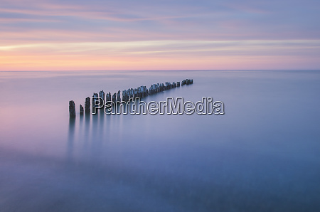twilight over lake superior seen from