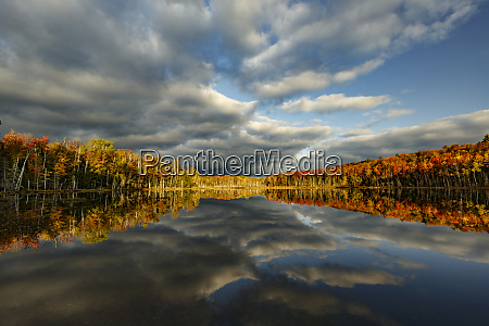 red, jack, lake, und, sonnenaufgangsreflexion, alger, county, upper - 27809192
