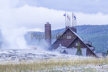 usa wyoming yellowstone national park old