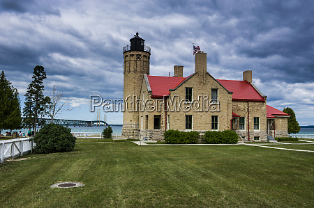 old mackinac point lighthouse on the