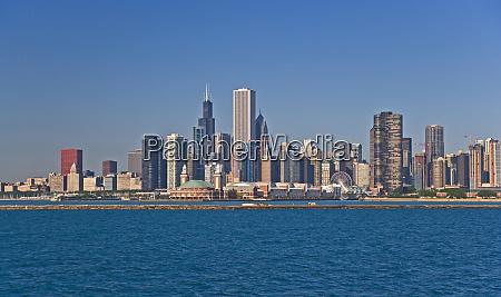 blick von chicago harbor auf die