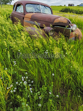 rusty old vehicles in the ghost
